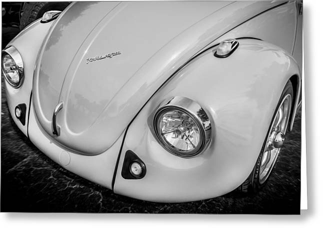 1974 Volkswagen Beetle Vw Bug  Bw Greeting Card