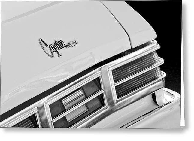 1975 Chevrolet Caprice Classic Convertible Taillights Emblem Greeting Card by Jill Reger