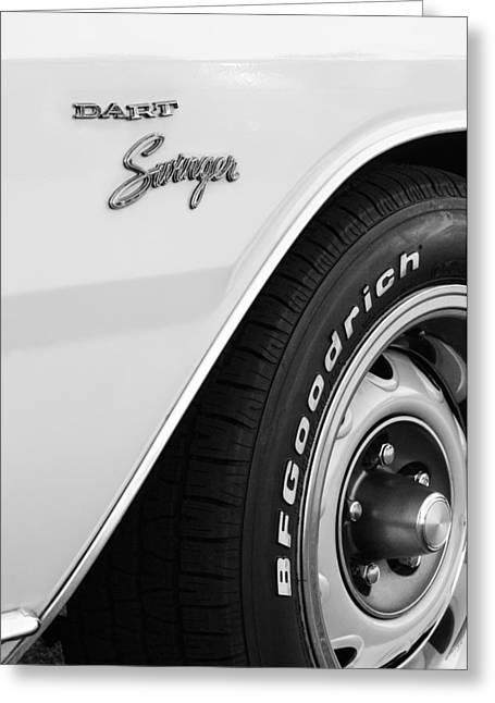 1975 Dodge Dart Swinger Emblem Greeting Card by Jill Reger