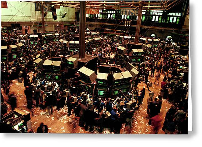 1980s New York Stock Exchange Trading Greeting Card