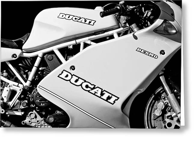 1993 Ducati 900 Superlight Motorcycle Greeting Card
