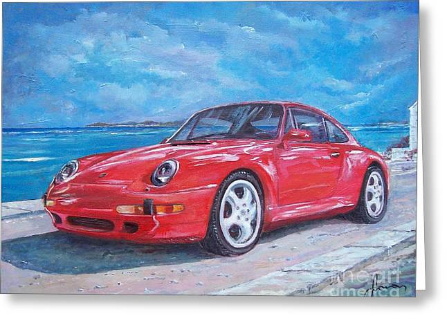1997 Porsche Carrera S Greeting Card