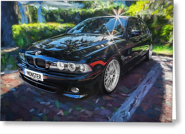1999 Bmw 528i Sports Car Painted   Greeting Card by Rich Franco