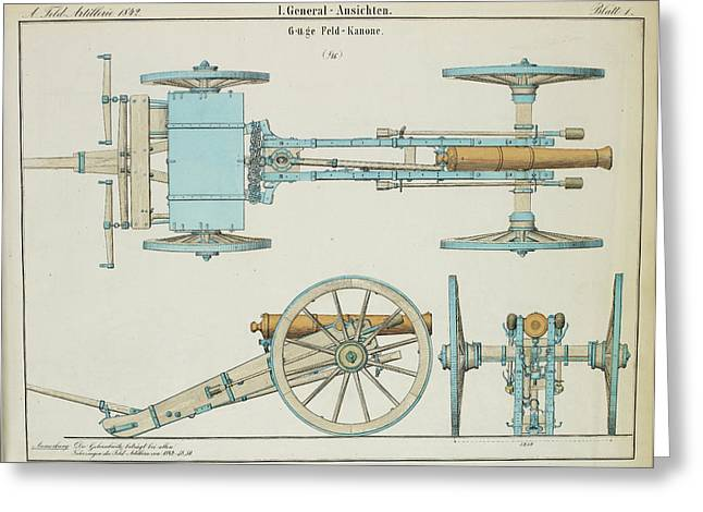 19th Century German Artillery Piece Greeting Card