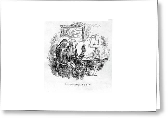 1-2-3 - Testing - 1-2-3 - Greeting Card by Alan Dunn