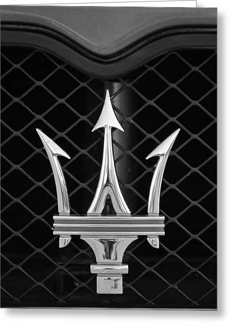 2005 Maserati Gt Coupe Corsa Emblem Greeting Card