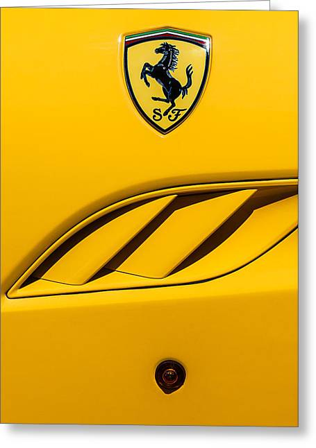 2010 Ferrari California Side Emblem Greeting Card by Jill Reger