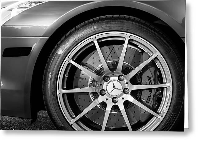 2012 Mercedes-benz Sls Amg Gullwing Wheel Greeting Card by Jill Reger