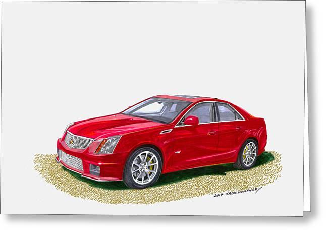 2013 Cadillac C T S  V Greeting Card by Jack Pumphrey