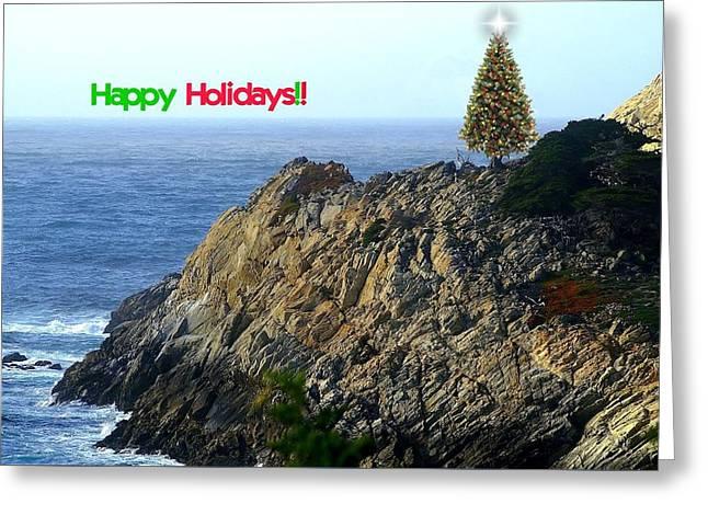 Coastal Holiday Greeting Card