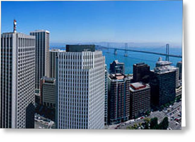 360 Degree View Of A City, Rincon Hill Greeting Card