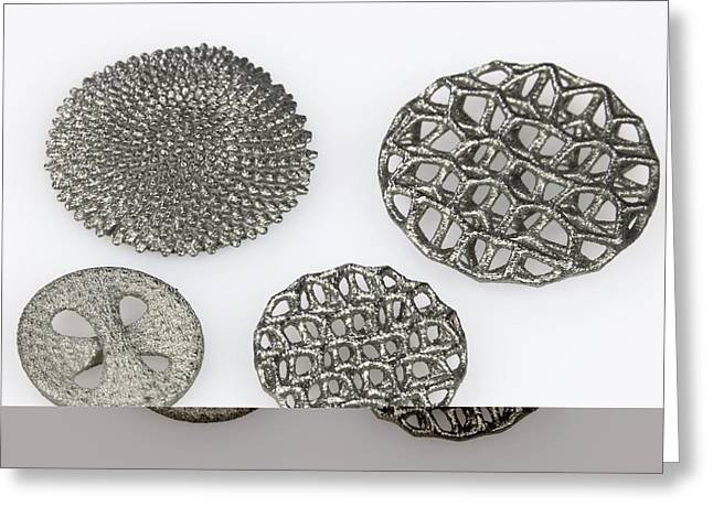 3d Printed Objects Greeting Card by Science Photo Library