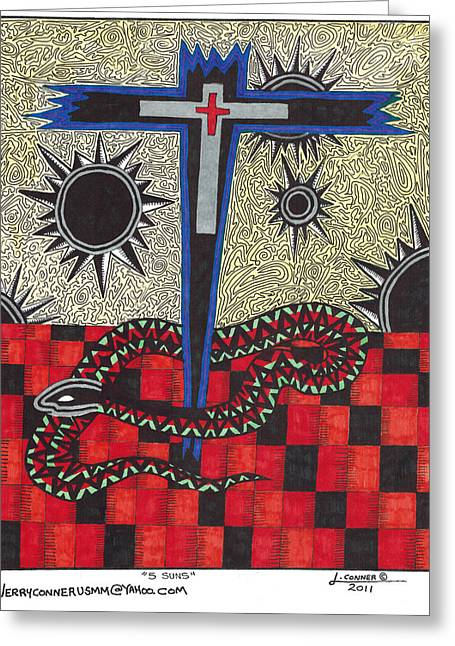 Cross Greeting Card by Jerry Conner