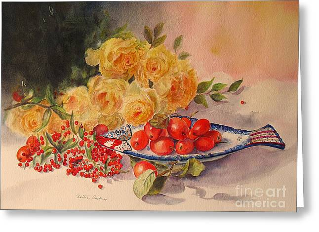 Greeting Card featuring the painting A Berry Or Two by Beatrice Cloake