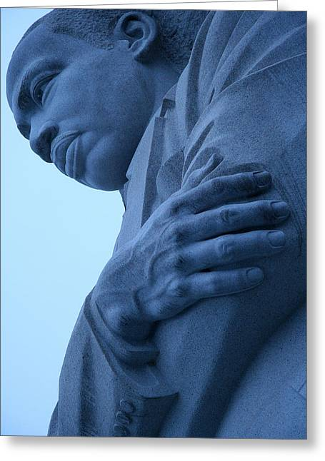 Greeting Card featuring the photograph A Blue Martin Luther King - 2 by Cora Wandel