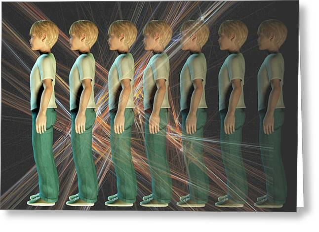 A Boy Fading From Sight Greeting Card by Carol & Mike Werner