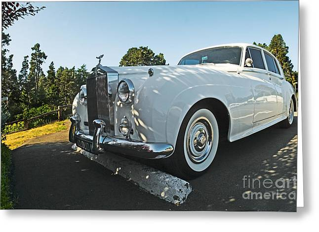 A Classic Rolls Royce Greeting Card by Ron Sanford