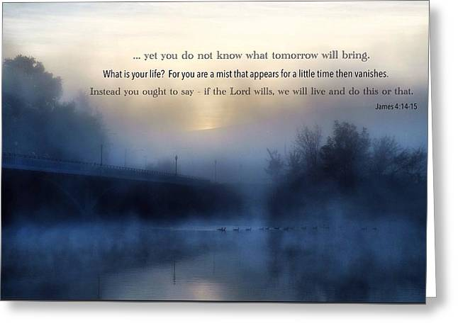 A Cold Foggy Morning Greeting Card