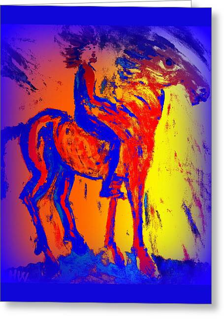 We Have Such A Colorful Life Together As A Team  Greeting Card by Hilde Widerberg