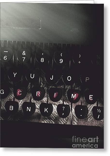 A Crime Story Written In Blood Greeting Card by Jorgo Photography - Wall Art Gallery