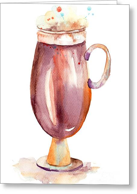 A Cup Of Coffee  Greeting Card by Regina Jershova