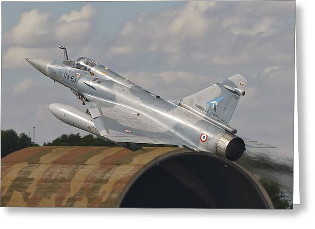 Dassault mirage 2000 greeting cards page 3 of 3 fine art america a french air force mirage 2000c taking greeting card m4hsunfo Image collections
