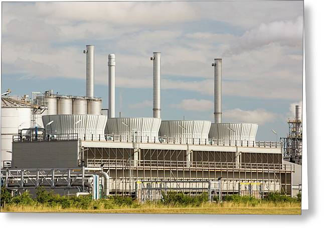 A Gas Fired Power Station At Salt End Greeting Card