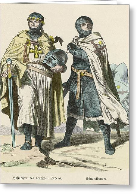 A Grand Master Of The Teutonic  Knights Greeting Card by Mary Evans Picture Library