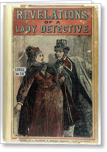 A Lady Detective Greeting Card