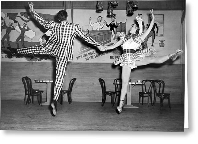 A Lively Dance Performance Greeting Card