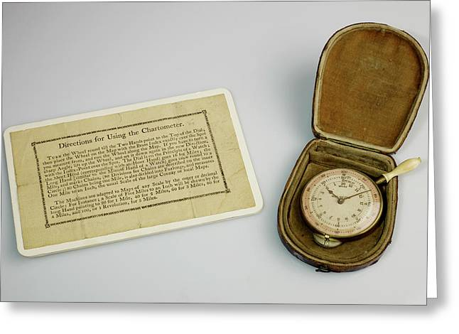 A Map Meter A Dial Map Measurer Greeting Card by British Library