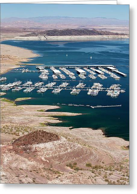 A Marina On Lake Mead Greeting Card by Ashley Cooper