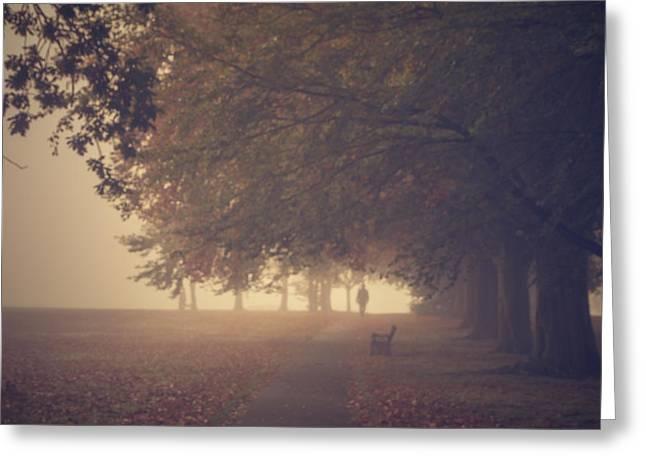 A Misty Morning Greeting Card by Chris Fletcher