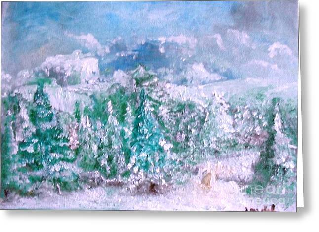 Greeting Card featuring the painting A Natural Christmas by Laurie Lundquist