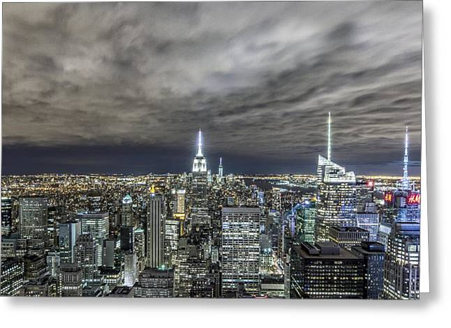 A Night In Nyc Greeting Card by Anthony Fields