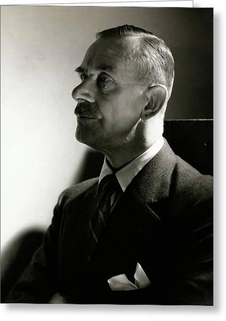 A Portrait Of Thomas Mann Greeting Card by Edward Steichen