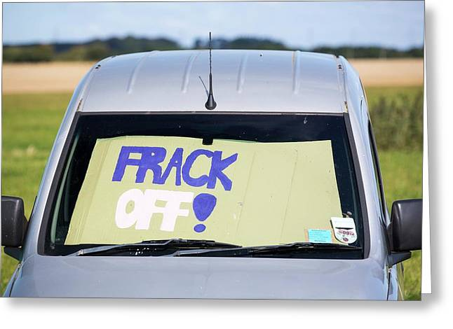 A Protest Camp Against Fracking Greeting Card by Ashley Cooper