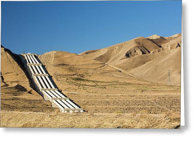 A Pumping Station Sends Water Uphill Greeting Card by Ashley Cooper