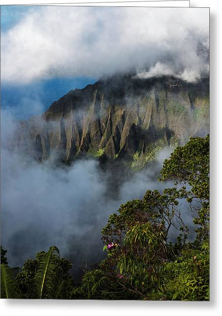 A Spectacular View Materializes Greeting Card by Robert L. Potts