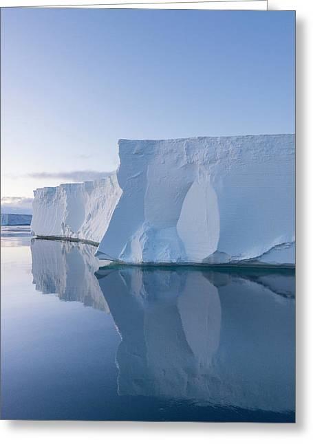 A Tabular Iceberg Under The Midnight Greeting Card