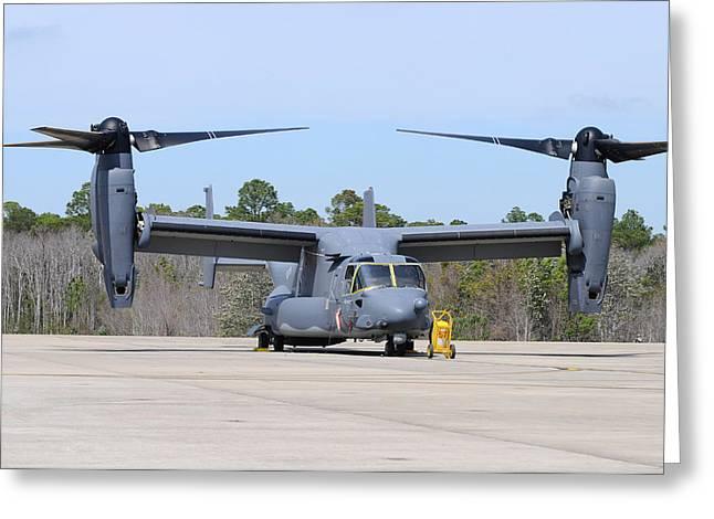 A U.s. Air Force Cv-22b Osprey Greeting Card by Riccardo Niccoli