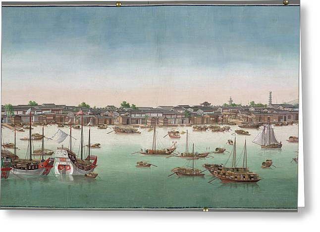 A View Of Canton Greeting Card