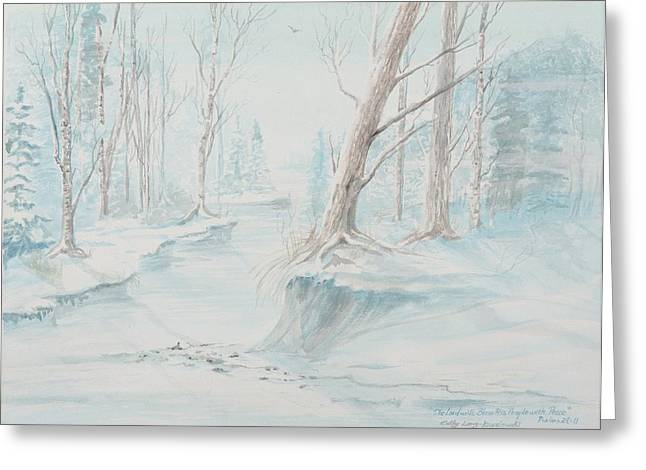 A Winter Path Greeting Card
