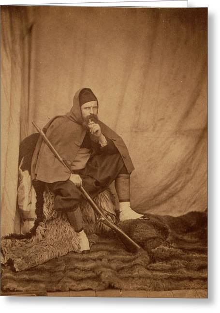 A Zouave, Crimean War, 1853-1856 Greeting Card by Quint Lox