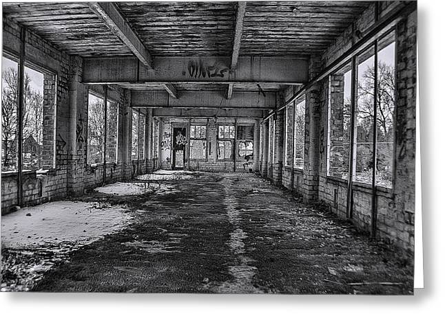 Abandonded And Empty Greeting Card by Trevor Kersley