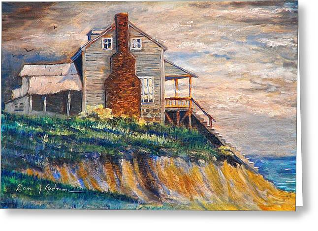 Greeting Card featuring the painting Abandoned Beach House by Dan Redmon
