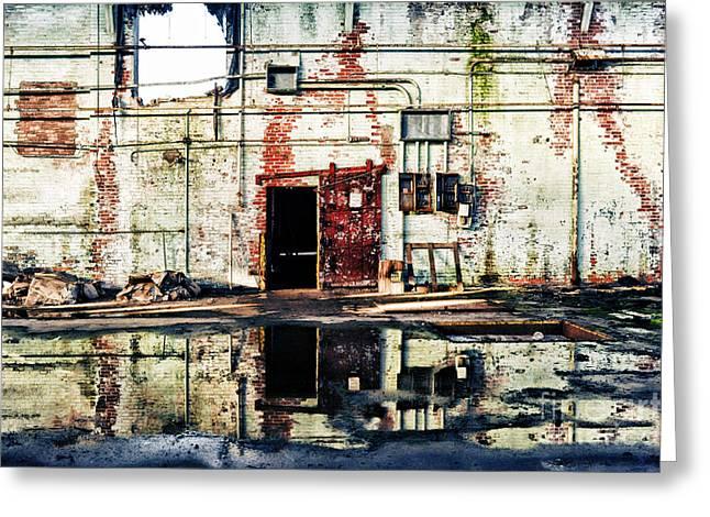 Abandoned Factory Interior Greeting Card