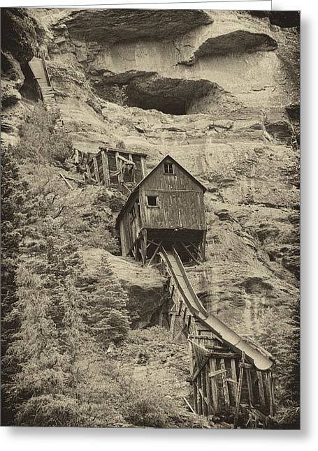 Abandoned Mine Greeting Card by Melany Sarafis