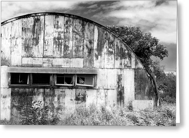 Abandoned Ww2 Quonset Hut Greeting Card