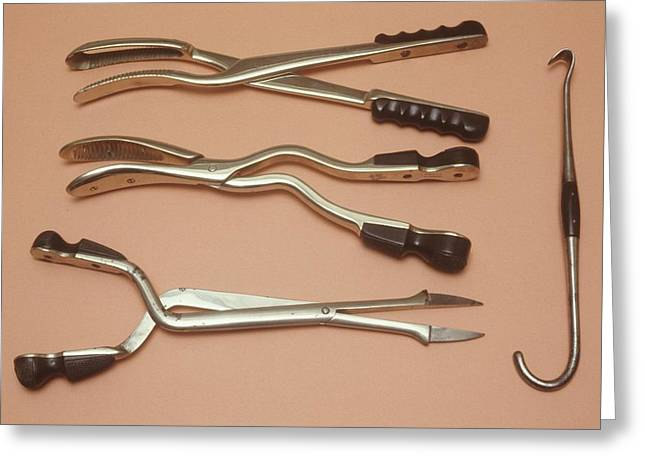 Abortion Instruments Greeting Card by Science Photo Library